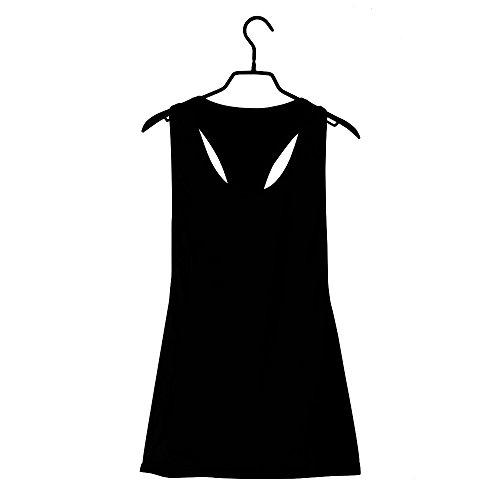 Yoga Donna Gilet Cross Senza Maniche Nero top Sport Con Sportiva Top Canotta Shirt Vrtur Gym Da Allenamentotank wn4xSqO