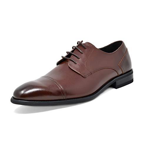(Bruno Marc Men's Dark Brown Dress Shoes Cap Toe Oxfords Washington-2 Size 13 M US)
