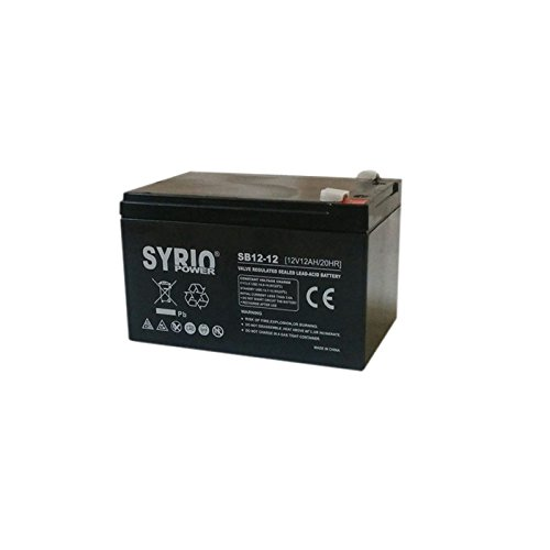 AGM Battery 12Ah 12V Syrio Power Off-Grid Solar System Electric Vehicles Marine