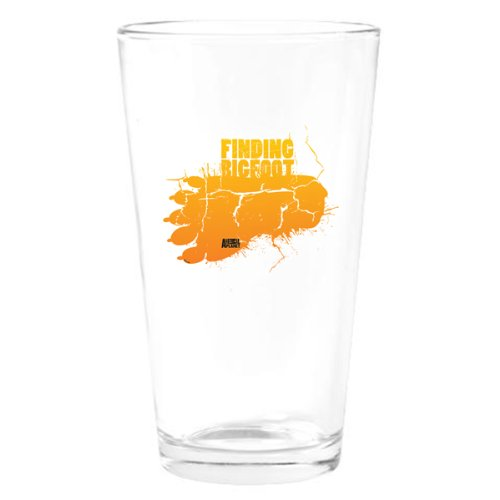 Finding Bigfoot Footprint Drinking Glass