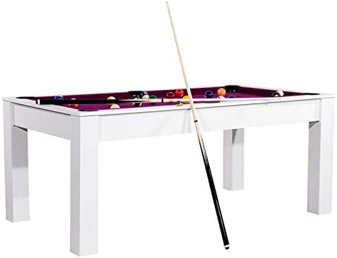 Paris Prix – Mesa de Billar Convertible Kansas 185 cm, Color Blanco y Morado: Amazon.es: Hogar
