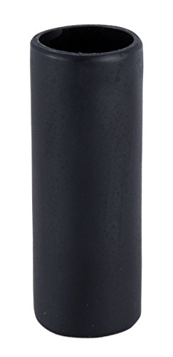 B&P Lamp 4 Inch Flat Black Polyresin Candle Cover - Standard Size