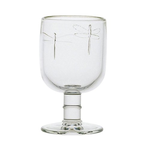 La Rochere Set Of 6, 10-ounce Dragonfly  Water Glasses, used for sale  Delivered anywhere in USA