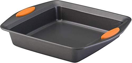 Rachael Ray Yum -o! Nonstick Bakeware Baking Pan / Nonstick Cake Pan, Square – 9 Inch, Gray