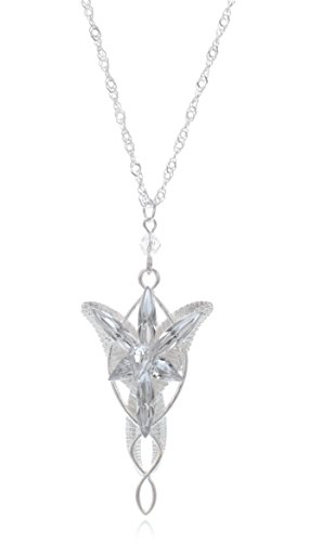 L-Zone The Lord of the Rings Lady Arwen Evenstar Inspired Collectible Plated Pendant with 20-Inch Chain Necklace (Lord Of The Rings Arwen Evenstar Pendant Necklace)