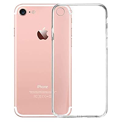 EC for iPhone Case Transparent Soft TPU Frame Ultra Slim & Clear Shock-Absorption Bumper Anti-Scratch & Fingerprint Tempered Glass Back Cover Compatible with iPhone 7/8