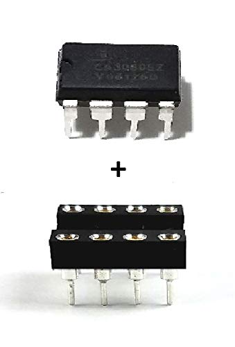 (Intersil CA3080EZ High-Performance Operational Transconductance Amplifiers IC & 8-Pin DIP Sockets with Machined Contact Pins (Pack of 1) )