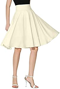 Win A Free Persun Women's High Waist Skater Midi Skirt