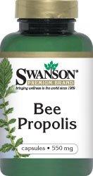 Bee Propolis 550 mg 60 Caps by Swanson Premium