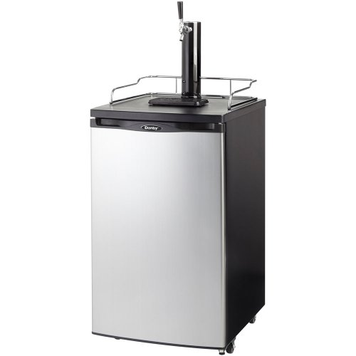 Danby DKC146SLDB 5.2 Cu. Ft. Chill'n Tap Keg Cooler - Black with Spotless Steel Door