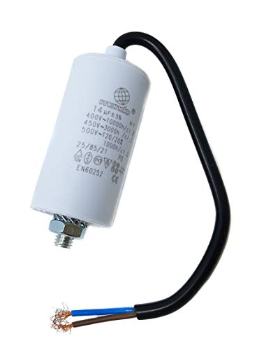 14 µF Universal Mondo Start/Run Motor Capacitor with Cable 450V, ()