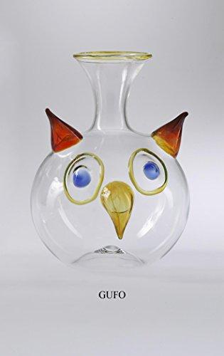Massimo Lunardon Unique Art Wine Decanter ''Gufo''. Hand-blown unique art glass by Massimo Lunardon
