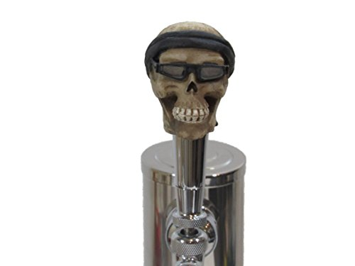 Biker Beer (Bandana Biker Sports Bar Beer Tap Handle Kegerator Resin Zombie Breweriana Bar)