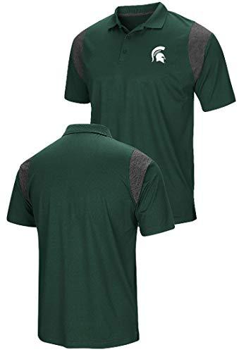 Colosseum Michigan State Spartans Mens Green Friend Polo Shirt - State Michigan Gear Fan