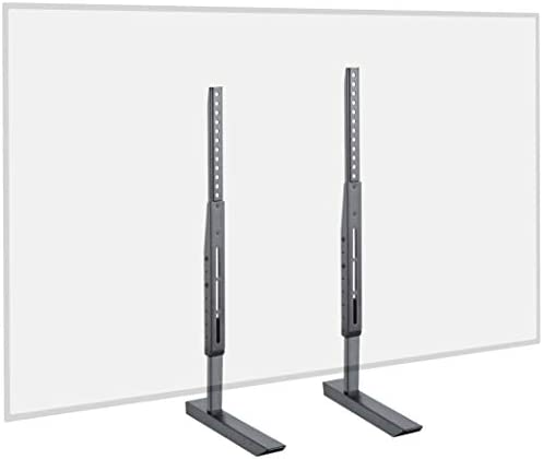 "Echogear Universal Large TV Stand - Height Adjustable Base for TVs Up to 77"" - Wobble-Free Replacement Stand Works w/ Any TV Including Vizio, TCL, Samsung & More - Flat Design Compatible w/ Soundbars"