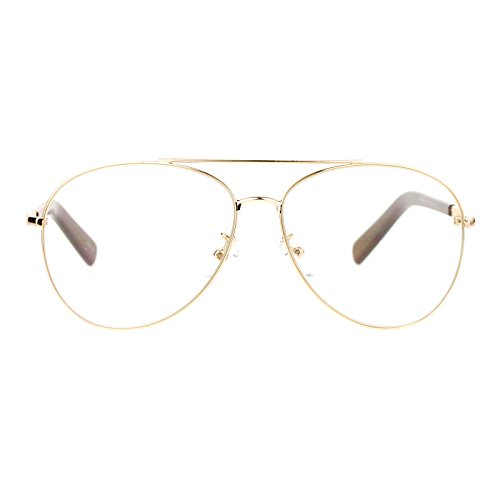 e3a356a202d63 SA106 Mens Spring Hinge Police Style Clear Lens Pilot Eyeglasses - Buy  Online in UAE.