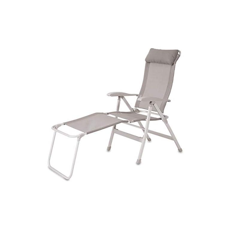 maxVitalis Relax Liegestuhl Klappbar Campingstuhl/Campingliege + Fußablage (verstellbar) 200 Kg + Schutzhülle…