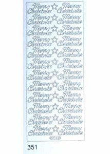 Elizabeth Craft Designs Merry Christmas Peel-Off Stickers, - Offs Peel Christmas
