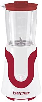 BEPER 90.435H Batidora de Vaso, 300 W, 0.5 litros, Rojo Y Blanco ...