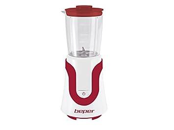 Beper 90.435H/RED Batidora de Vaso, 300 W, 0.5 litros, Rojo Y Blanco: Amazon.es: Hogar