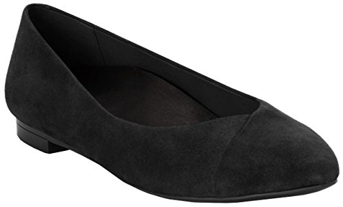 Vionic Womens Caballo Flat in Black Suede