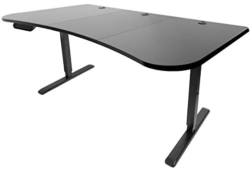 VIVO Black Electric Height Adjustable Stand Up Desk Frame, Workstation with 63 x 32 inch Table Top and Controller | Frame and Desktop Combo ()