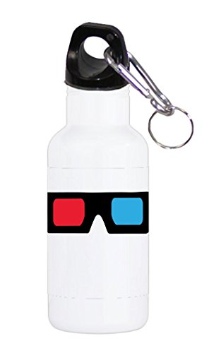 3D Glasses Red and Blue Lens 20 ounce Stainless Water Bottle by Moonlight Printing