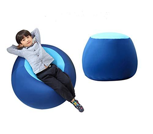 Quwei ChildrenComfortable Leisure Creative Chair Seat Sofa Bean Bags Sofa Sets (blue)