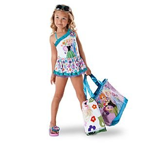 c13ea432e6 Amazon.com: Disney Frozen Anna and Elsa Swimsuit for Girls (7-8): Baby