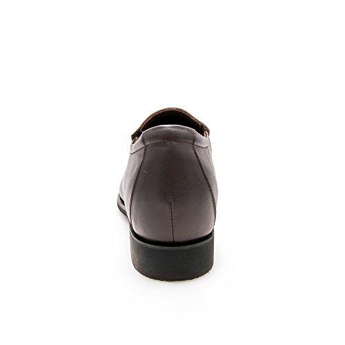 Zerimar Scarpe da Uomo con Aumentano Interni Aumenta + Pelle cm Genuina Scarpe di Pelle 100% Naturale marrone