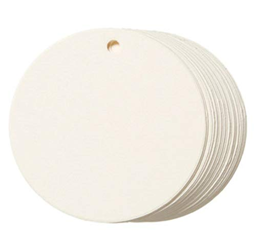 (Ivory Circle Tags by Core'dinations - Small (2 in. diameter, 20 pieces/pkg.))