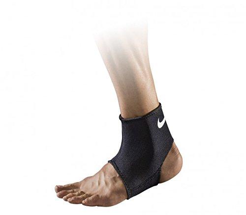 (Nike Pro Combat Ankle Sleeve 2.0 (Black/white; Size:large))