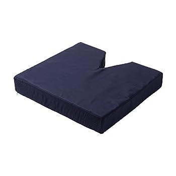 DMI Comfort Contoured Foam Coccyx Seat Cushion for Chair or Wheelchair, Navy