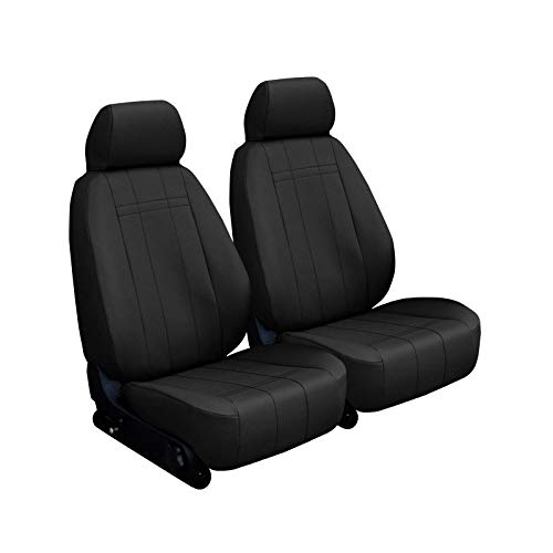 - Front Seats: ShearComfort Custom Imitation Leather Seat Covers for Chevy Cobalt (2005-2010) in Black for Buckets w/Adjustable Headrests (All Models Except Supercharged SS Coupe)