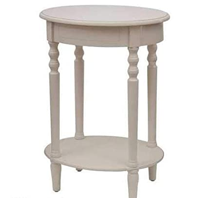 Amazon Com Ph 1 Piece 27 Inch Antique White Accent Table Shabby