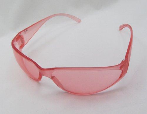Boas Safety Glasses Pink Frame Pink Lens Wraparound (Boas Wrap Arounds)