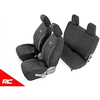 Front and Rear Seat Covers for a 2008-2012 Jeep Liberty Black Hunter Green