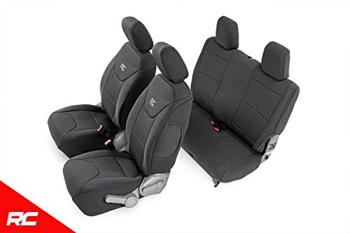 (Rough Country 91005 Black Custom Fit Seat Covers )