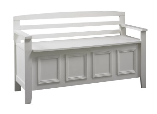 Linon Laredo Storage Bench (Wooden Bench White)