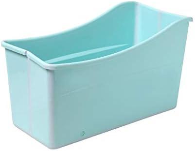家族浴室用エアーポンプ付きインフレータブルバスPVC折りたたみポータブルインフレータブルバスタブブローアップエアバスタブPVC滑り止め (Color : Green, Size : A)