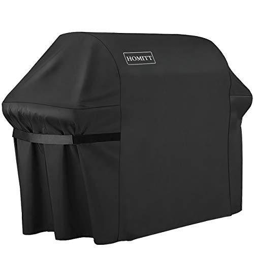 Homitt Gas Grill Cover, 60-inch 600D Heavy Duty Waterproof BBQ Cover with Handles and Straps for Weber Spirit II E-310, Genesis E/ S Series Gas Grills and Other Most Brands of Grill