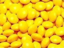 Yellow Milk Chocolate Gems (Lentils) 5LB Bag by The Nutty Fruit House