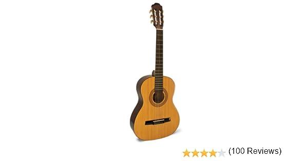 Hohner HC03 - Guitarra clásica de nailon de tamaño 3/4, natural ...