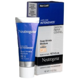Neutrogena Ageless Intensives Anti Wrinkle Cream - Facial Moisturizer with SPF 20 Sunscreen, Retinol and Hyaluronic Acid to Fight Signs of Aging, Retinol, Hyaluronic Acid, Glycerin 1.4 oz (Pack of 2)