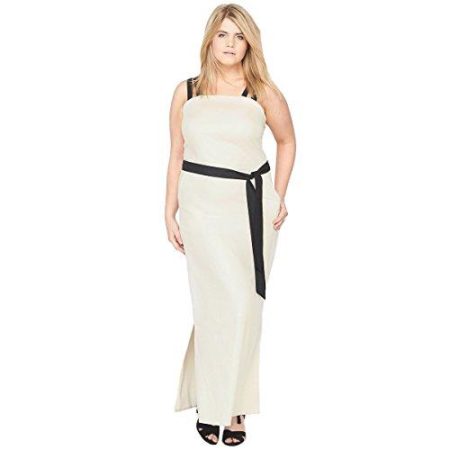 Kleid Redoute Ecru Frau Castaluna Tragern Mit La 6qxwpFPqS