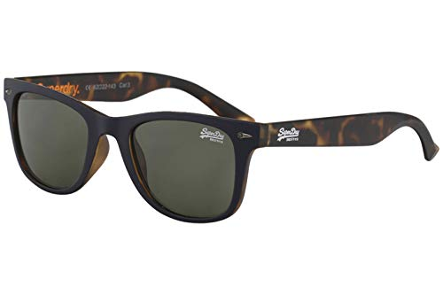 Superdry Men's SDS Rookie 106 Navy/Tortoise Fashion Rectangle Sunglasses ()