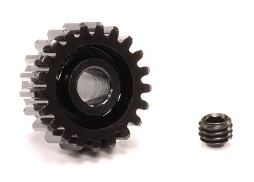 Integy RC Hobby C23776 HD Billet 32 Pitch, MOD 0.8 Steel Pinion 21T for BL Applications w/ 5mm Shaft