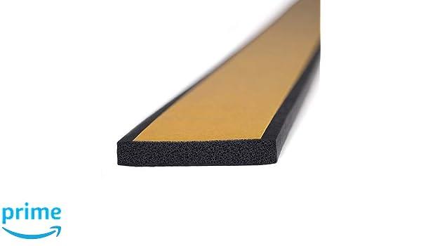 1 cm de alto x 3 cm de ancho M M Seal A063 Sello de goma con esponja autoadhesiva tira de neopreno universal para extrusi/ón de burletes
