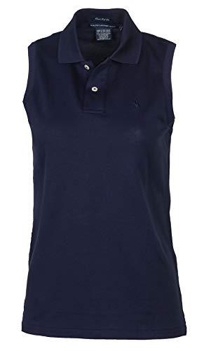 Ralph Lauren Golf Women's Classic Fit Sleeveless Polo-Navy-Medium