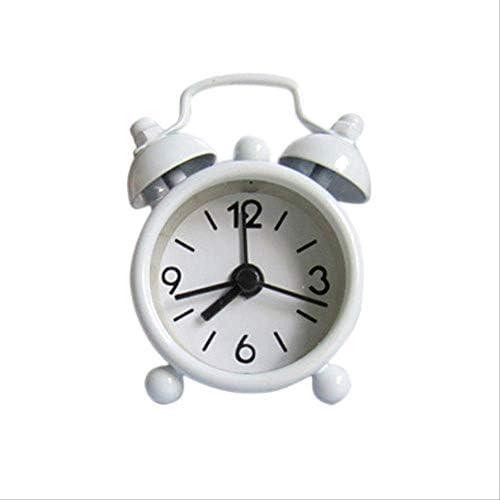 ミニ目覚まし時計電子ラウンド番号ダブルベルデスクテーブルデジタルクォーツ時計家の装飾レトロポータブルかわいい耐久性